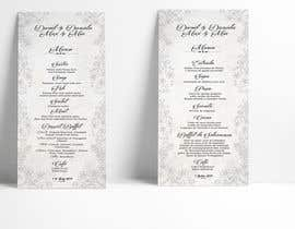 nº 28 pour Design a wedding menu par raciumihaela
