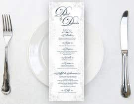nº 20 pour Design a wedding menu par akosierwin