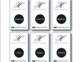 nº 12 pour Design Clothing Inner Tags par mcreativestudio