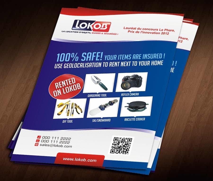 Inscrição nº 44 do Concurso para Advertisement Design (Flyer/A4) for a New Start-up (Lokob.com)
