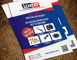Jabinhossain tarafından Advertisement Design (Flyer/A4) for a New Start-up (Lokob.com) için no 37