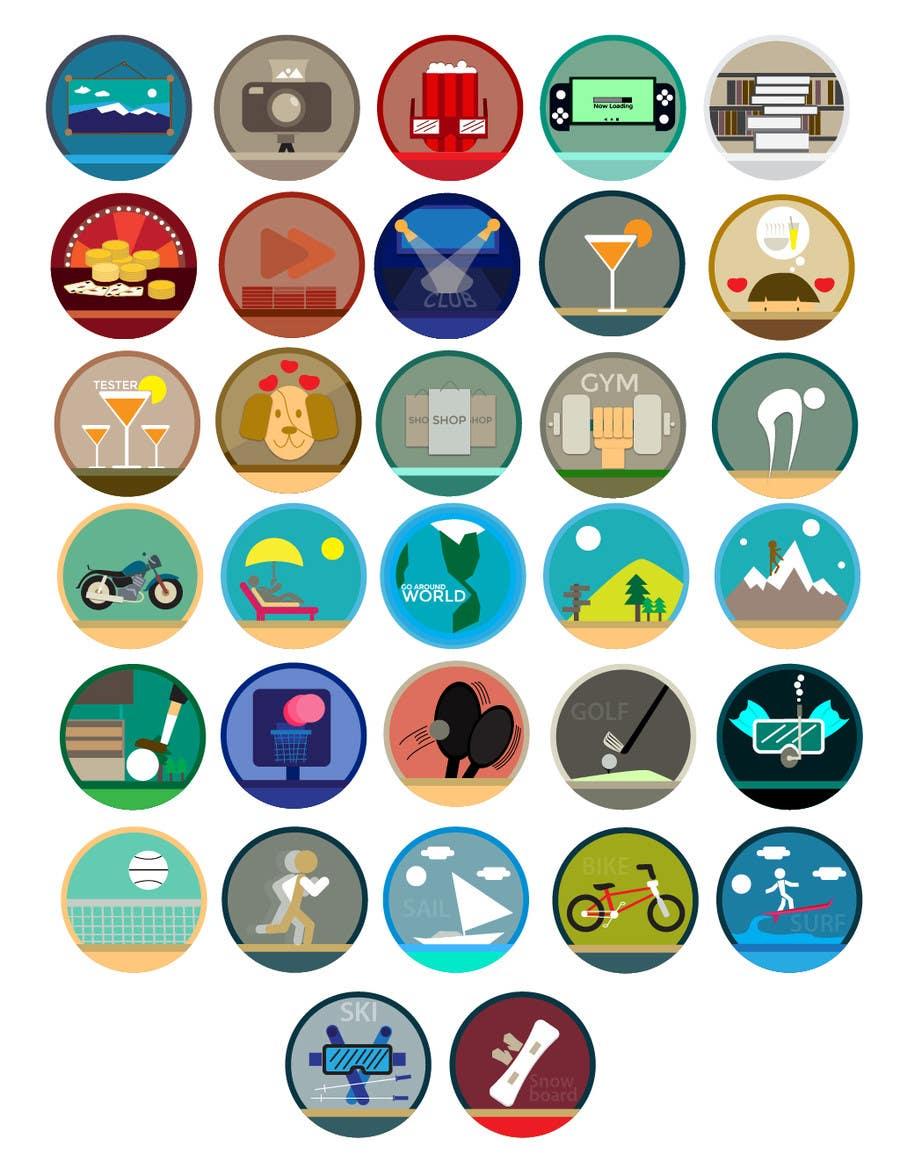 Proposition n°4 du concours Disegnare alcune Icone che rappresentino stili di vita ed attività varie per sito html - Draw some icons that represent different lifestyles and activities for a html site
