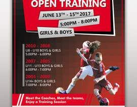 nº 13 pour URGENT Design a Flyer Advertising Open Training for our Club par Ichwan94