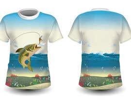 nº 65 pour T shirt fishing Graphic Design par chinliyanage