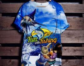 nº 63 pour T shirt fishing Graphic Design par Skrambl