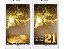 nº 8 pour Design a Birthday Snapchat Filter par harmeetgraphix