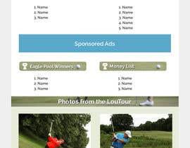 nº 3 pour MailChimp eblast template design (Golf) par vigneshhc