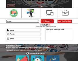 nº 11 pour Design a Website Mockup par metulroy00