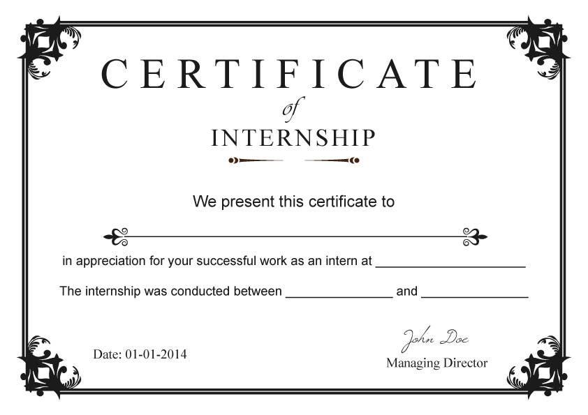 Entry 65 by singhharpreet60 for design internship certificate contest entry 65 for design internship certificate yadclub Choice Image
