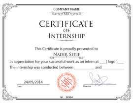 Design internship certificate freelancer 56 for design internship certificate by nadirsetif yadclub Choice Image