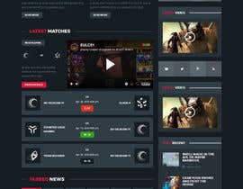 nº 36 pour Responsive design for fantasy/gaming website par princevenkat