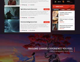 nº 22 pour Responsive design for fantasy/gaming website par surajit666