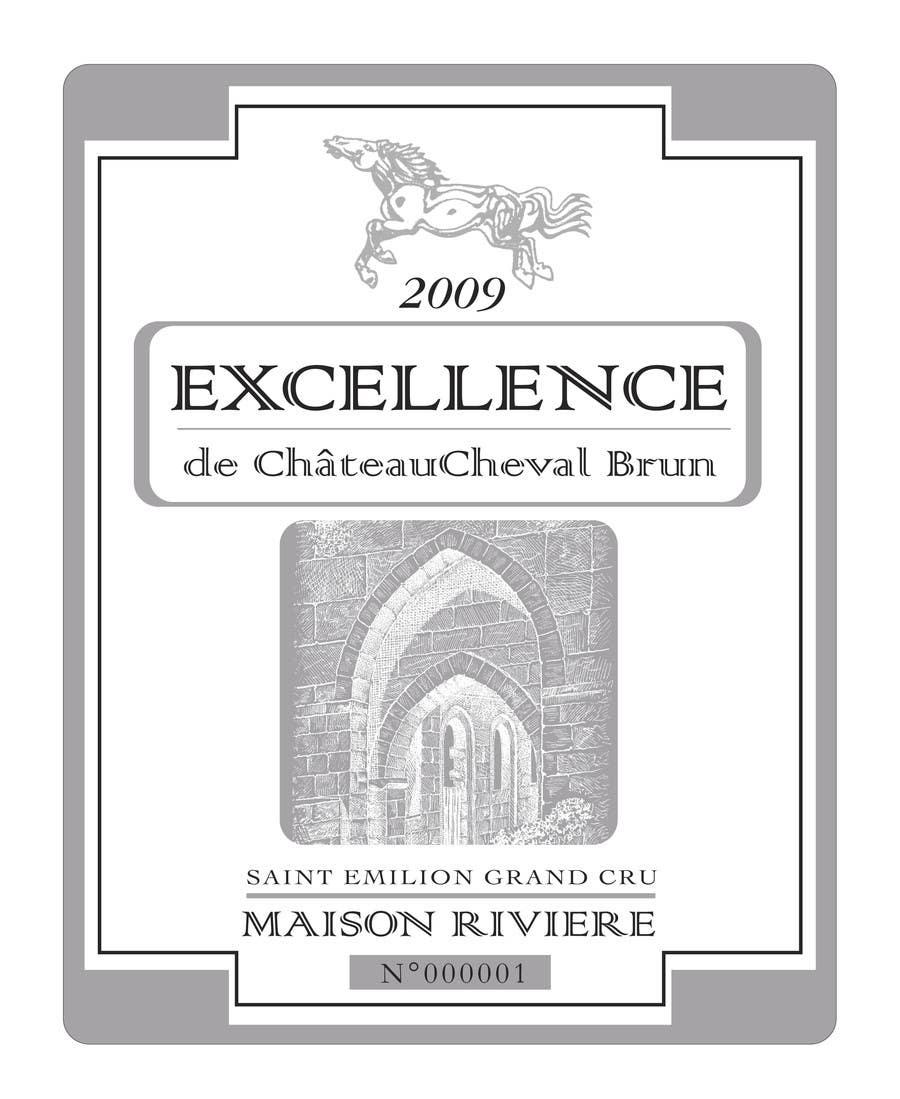Kilpailutyö #2 kilpailussa Print & Packaging Design for Excellence Bordeaux Wine