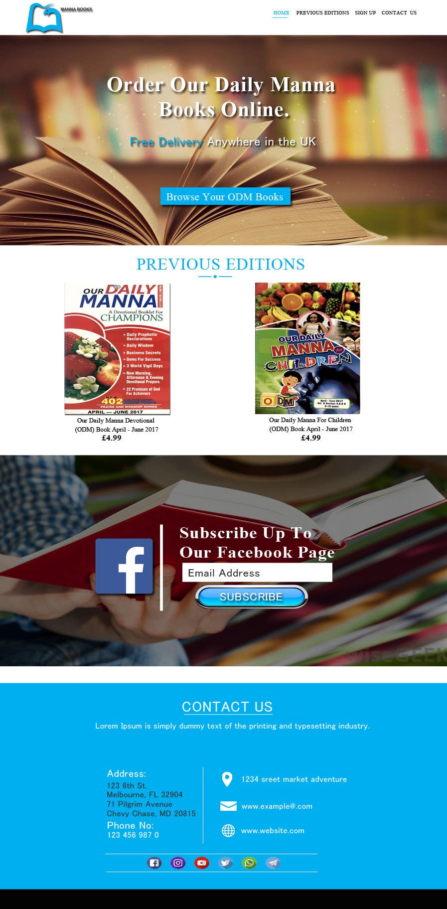 Entry #5 by adminenc for Redesign ODM Book Website | Freelancer