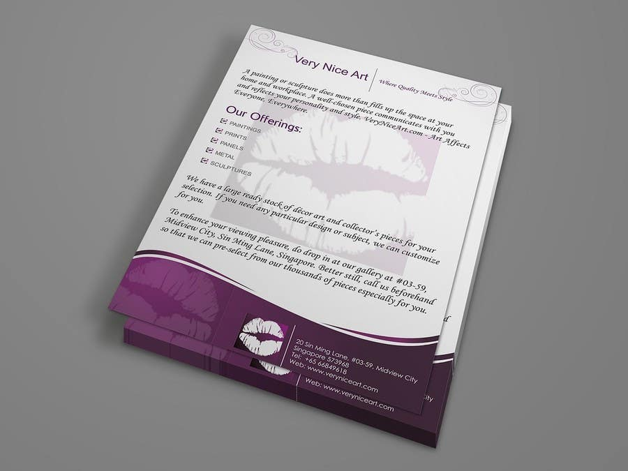Bài tham dự cuộc thi #42 cho Flyer Design for Very Nice Art Pte Ltd (veryniceart.com)