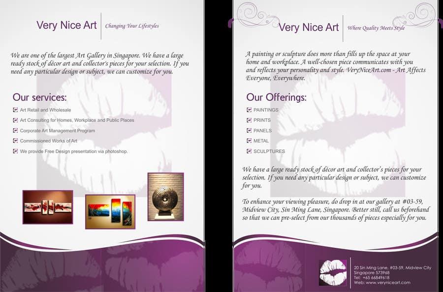 Bài tham dự cuộc thi #43 cho Flyer Design for Very Nice Art Pte Ltd (veryniceart.com)