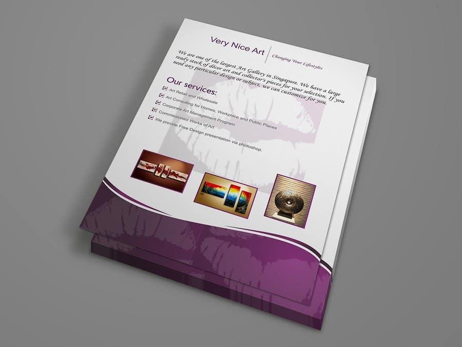 Inscrição nº 41 do Concurso para Flyer Design for Very Nice Art Pte Ltd (veryniceart.com)