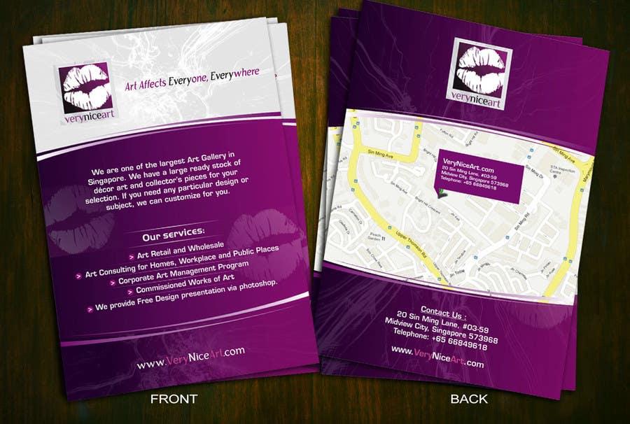 Inscrição nº 78 do Concurso para Flyer Design for Very Nice Art Pte Ltd (veryniceart.com)