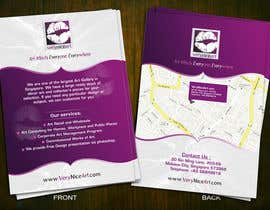 #77 untuk Flyer Design for Very Nice Art Pte Ltd (veryniceart.com) oleh Jabinhossain