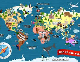 #19 untuk Illustration Design for World Maps for Kids oleh damirruff86