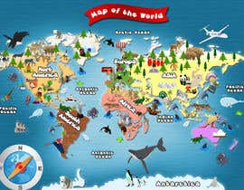 #32 untuk Illustration Design for World Maps for Kids oleh damirruff86