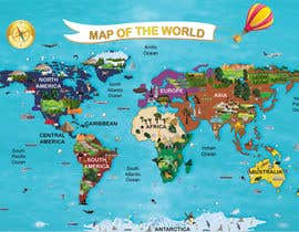 #31 for Illustration Design for World Maps for Kids by datagrabbers