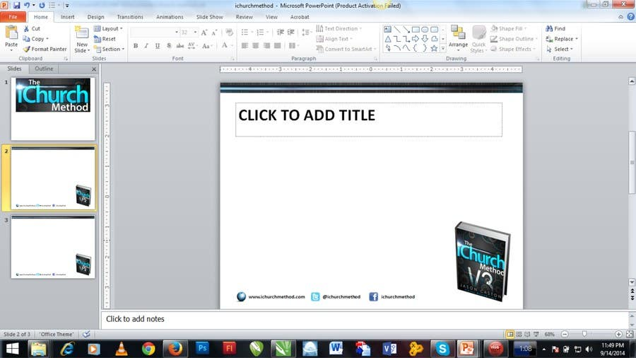 Entry 2 By Sanyoniyoo For Update Powerpoint Template Freelancer