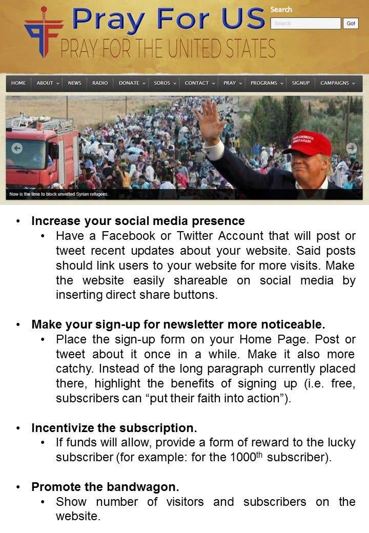 Proposition n°                                        11                                      du concours                                         Help Increase Newsletter Signups & Visits