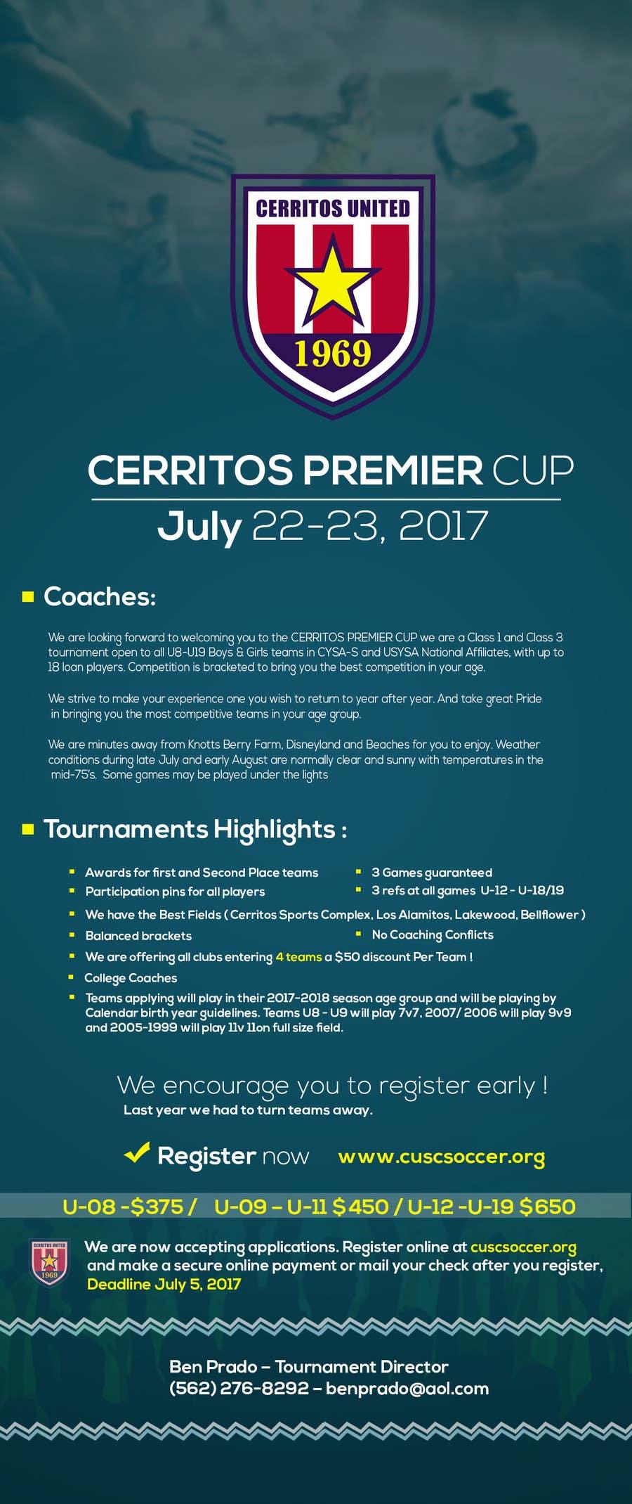 Contest Entry #7 for Design a soccer tournament flyer