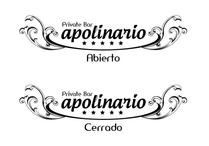 Penyertaan Peraduan #                                        34                                      untuk                                         Diseñar un logotipo for Bar Apolinario