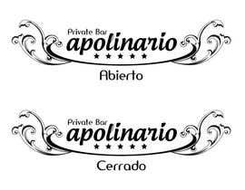 #34 untuk Diseñar un logotipo for Bar Apolinario oleh oricori