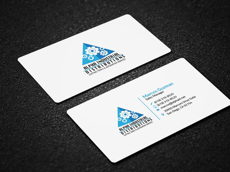 Entry #42 by Neamotullah for Business Card Design for Industrial ...