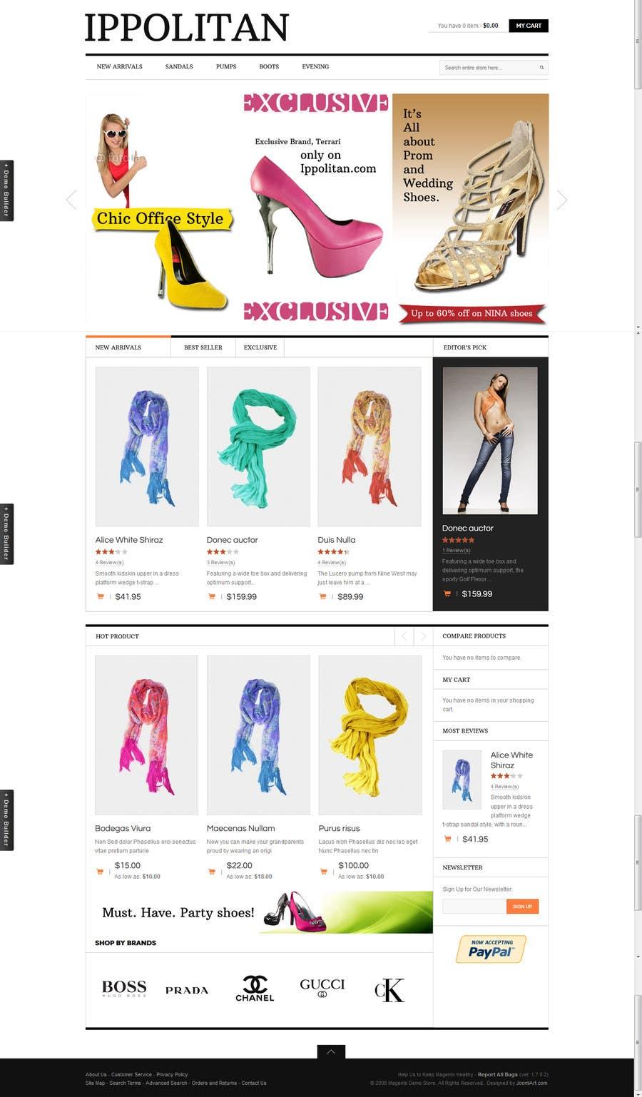 Kilpailutyö #12 kilpailussa Website Design for Re-Design a Theme (Joomla E-Commerce)