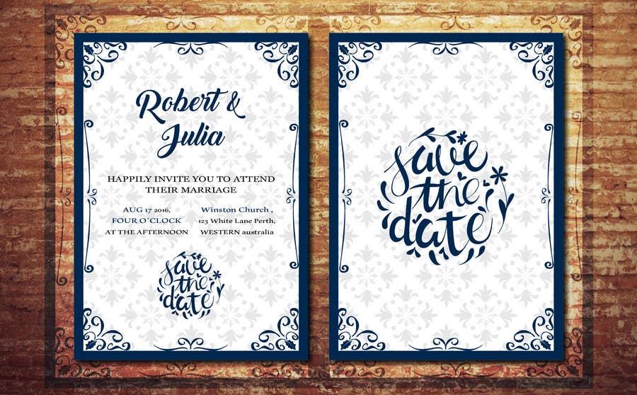 Entry 1 by paulagamal95 for wedding invitation design contest contest entry 1 for wedding invitation design contest stopboris Image collections