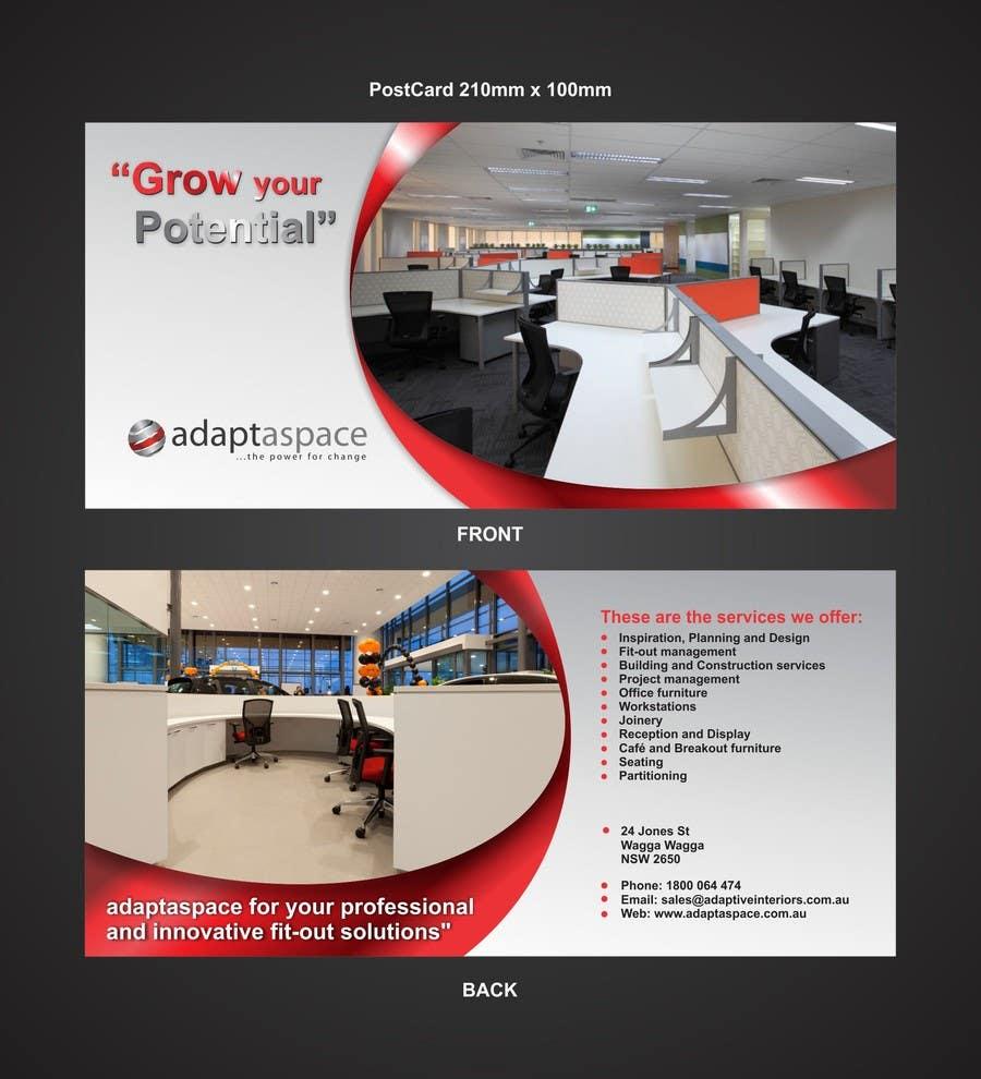 Конкурсная заявка №17 для Graphic Design/ Marketing / Brochure Card for adaptaspace