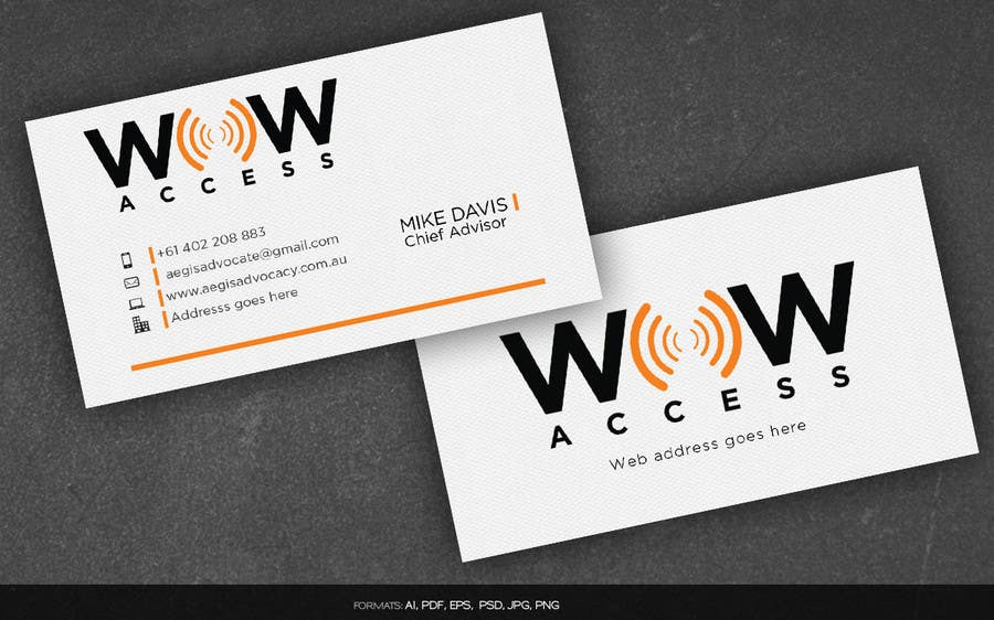 Entry #31 by arnee90 for Design some Business Cards for an Internet ...