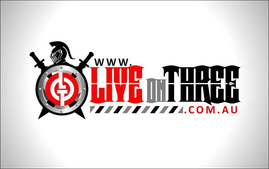 Inscrição nº                                         82                                      do Concurso para                                         Logo Design for www.liveonthree.com.au