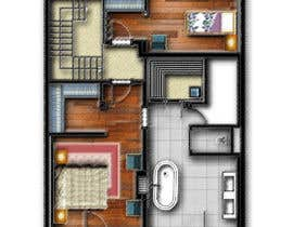 #25 for Hotel Rooms Illustration af abdomostafa2008