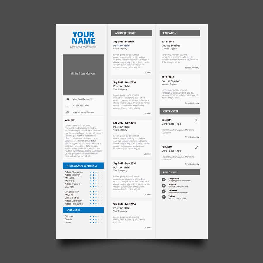 Entry #24 by Amirjaved166 for Create an Interactive PDF Resume ...