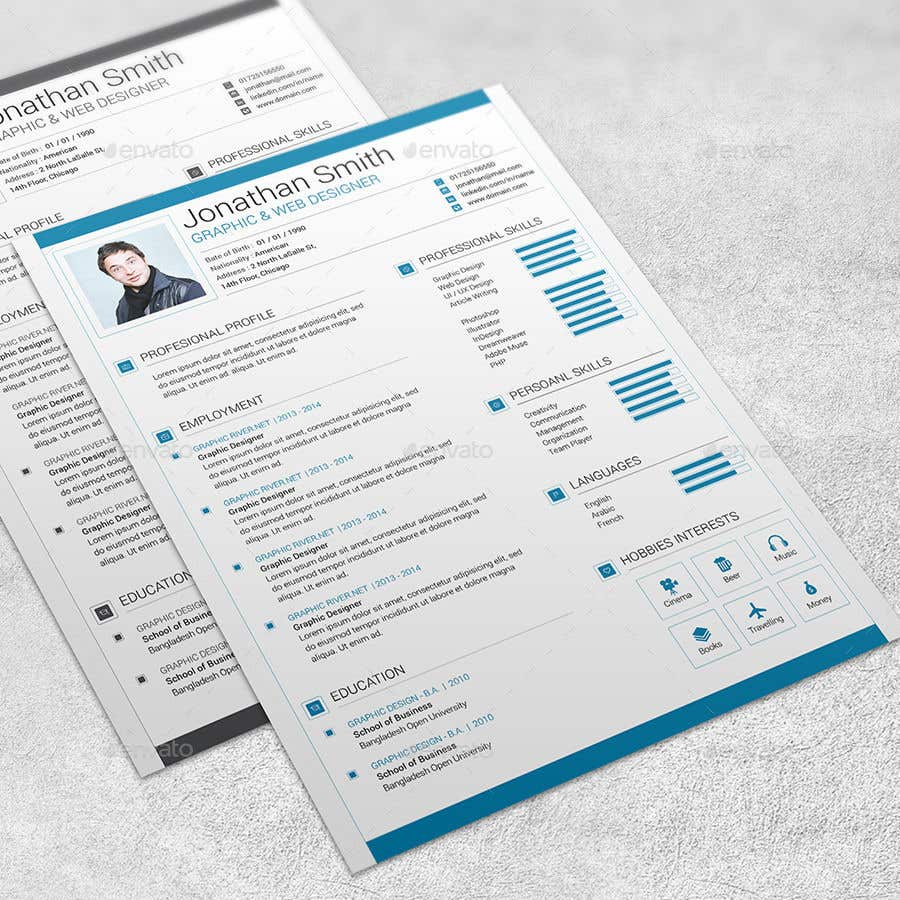 Entry #74 by mrmridha1 for Create an Interactive PDF Resume ...