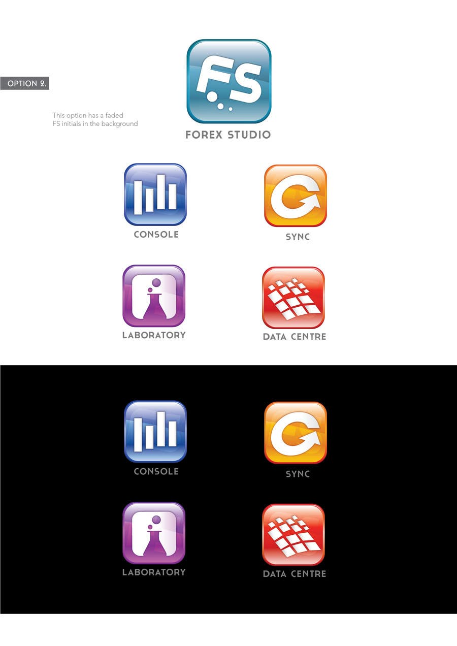 Proposition n°                                        39                                      du concours                                         Application Icons for Forex Studio (Windows software)
