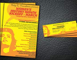 #5 pentru Graphic Design for TicketPrinting.com WOMEN'S HISTORY MONTH POSTER & EVENT TICKET de către wik2kassa