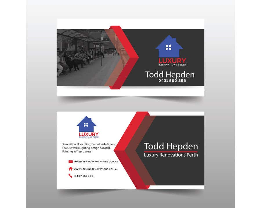 Entry 202 by imbikashsutradho for logo design business card and contest entry 202 for logo design business card and letter head for leeming renovations reheart Choice Image