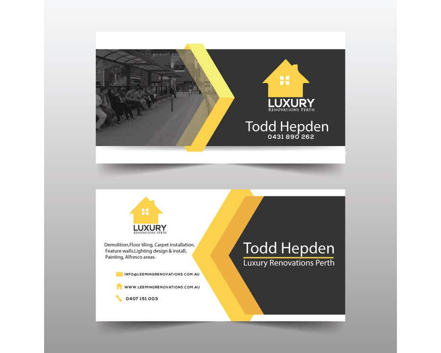 Entry 204 by imbikashsutradho for logo design business card and contest entry 204 for logo design business card and letter head for leeming renovations colourmoves