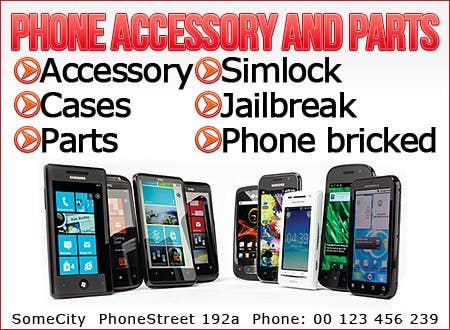 Contest Entry #6 for Banner Ad Design for Phone accessory and Parts