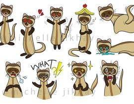 #14 for Create 20 Ferret Emojis af jikhay