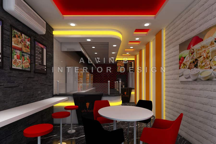 Entry 25 by alvinbacani for design a small restaurant in for Restaurant interior design app