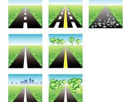 #25 para Design a set of road icons por juraana