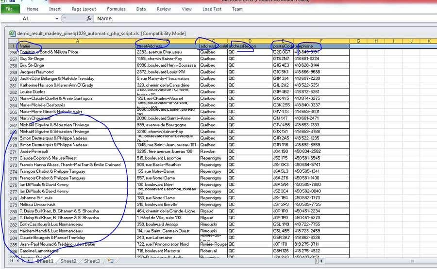 Entry #9 by pinelg1029 for Web scraping to Excel spreadsheet