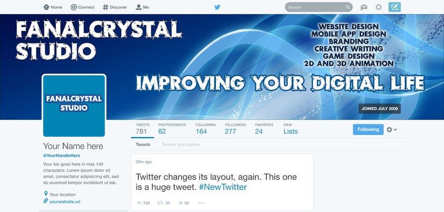 Konkurrenceindlæg #                                        5                                      for                                         Design a Twitter Header and Profile Picture for FanalCrystal Studio